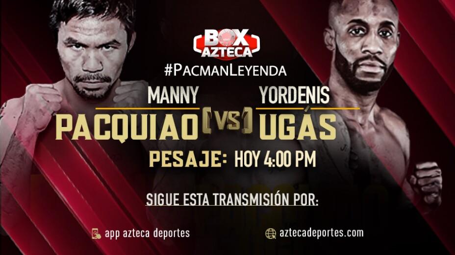 Manny Pacquiao pesaje de su pelea