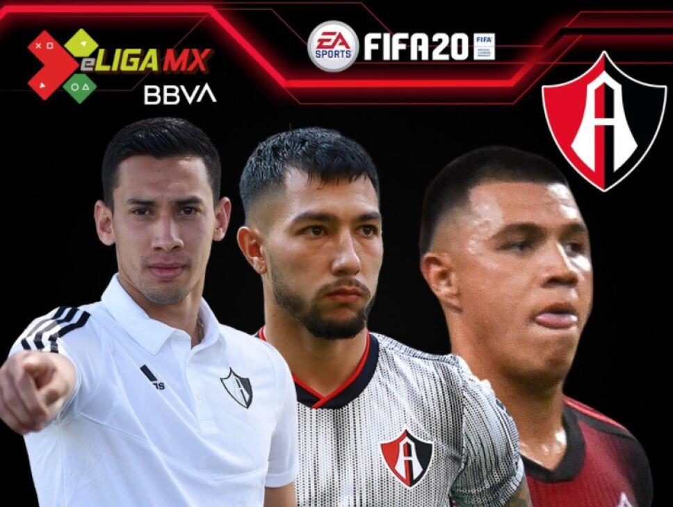 Jugadores del Atlas para la e Liga MX