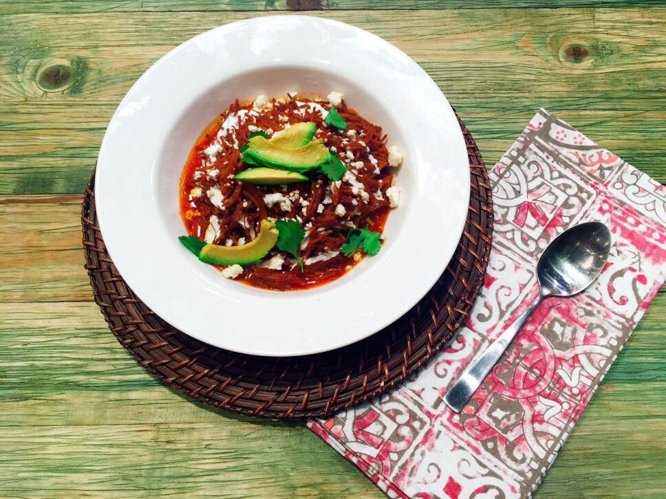 receta, fideo seco con guajillo, cocineros mexicanos, tv azteca