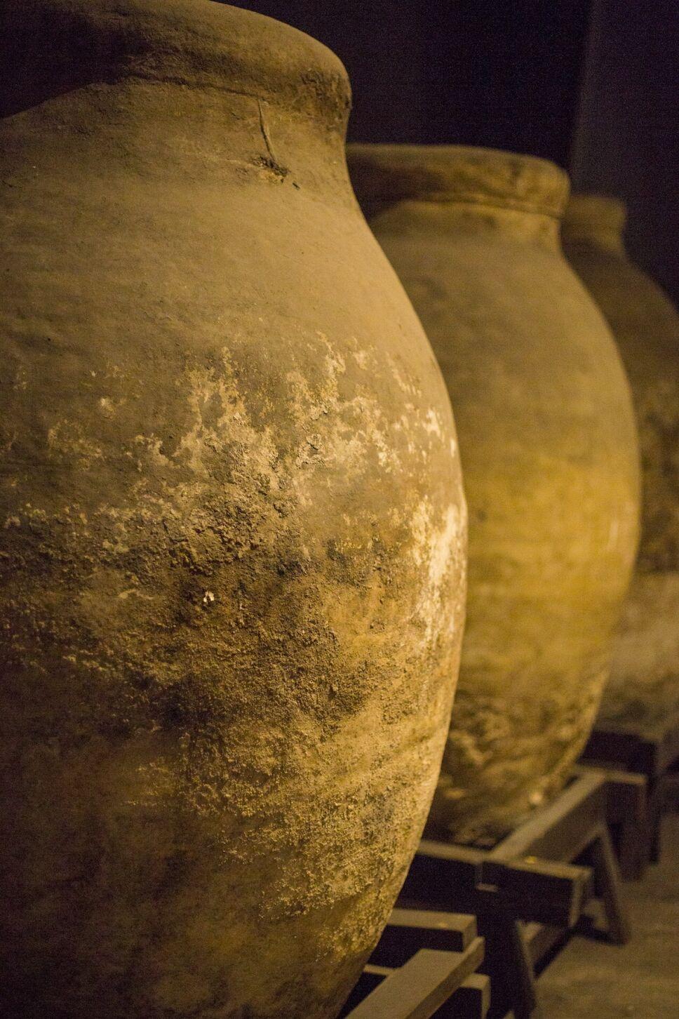 tinajas de barro vino vasija