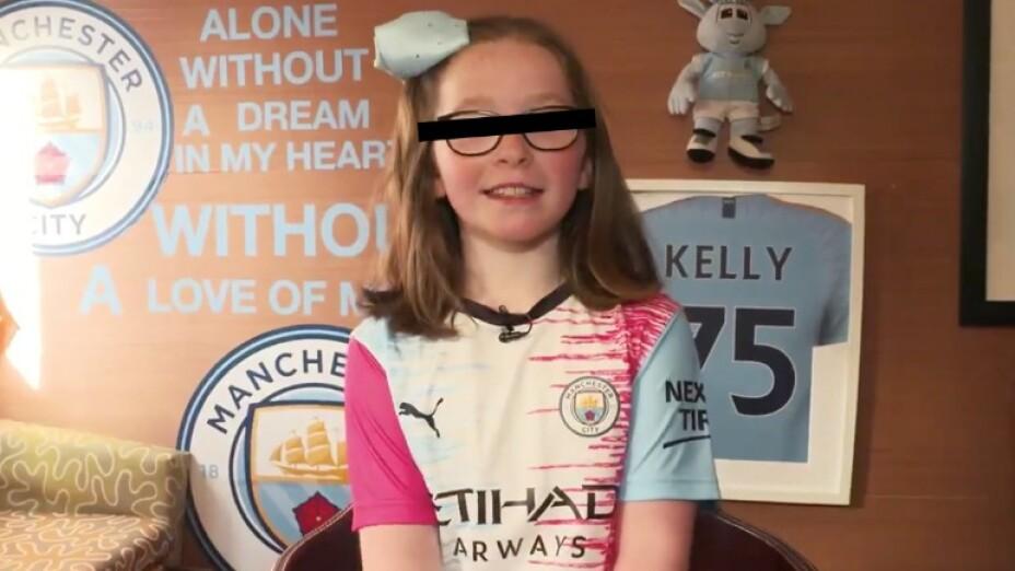 Niña de 9 años diseñó la nueva playera del Manchester City