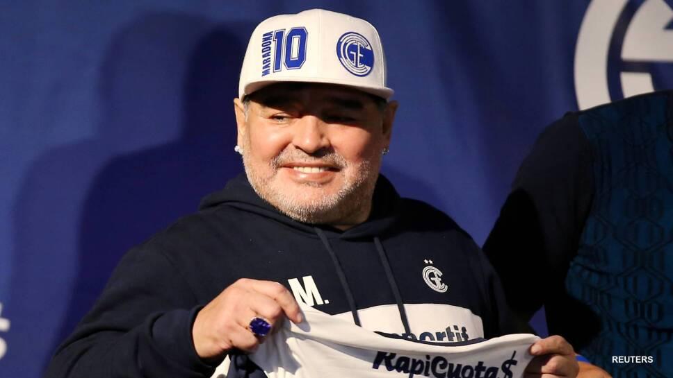 Diego Armando Maradona en buen estado de salud
