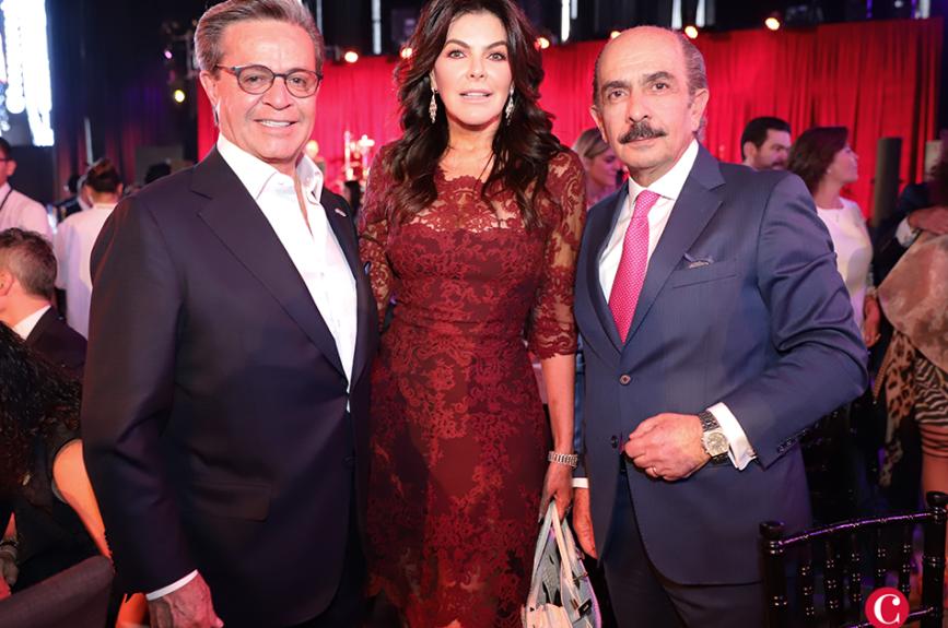 Carlos Peralta, Mariana Tort y Marco Salme