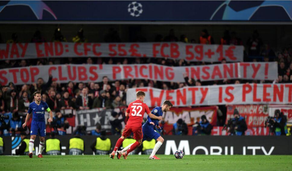Afición del Bayern en Champions