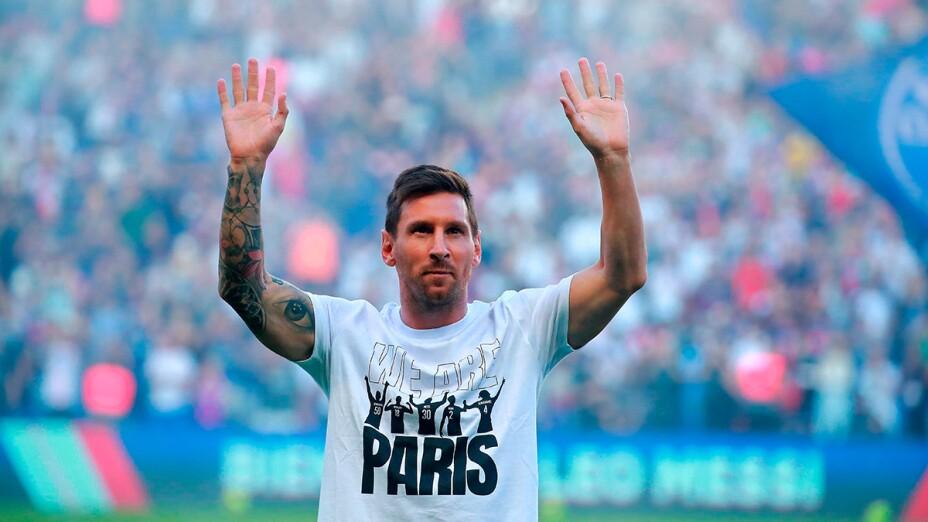 Messi en el Parque de los Príncipes