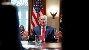 El presidente de Estados Unidos, Donald Trump, durante una reunión de gabinete en la Casa Blanca en Washington