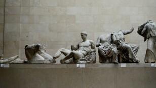 Imagen de archivo de los mármoles del Partenón en exhibición en el British Museum de Londres