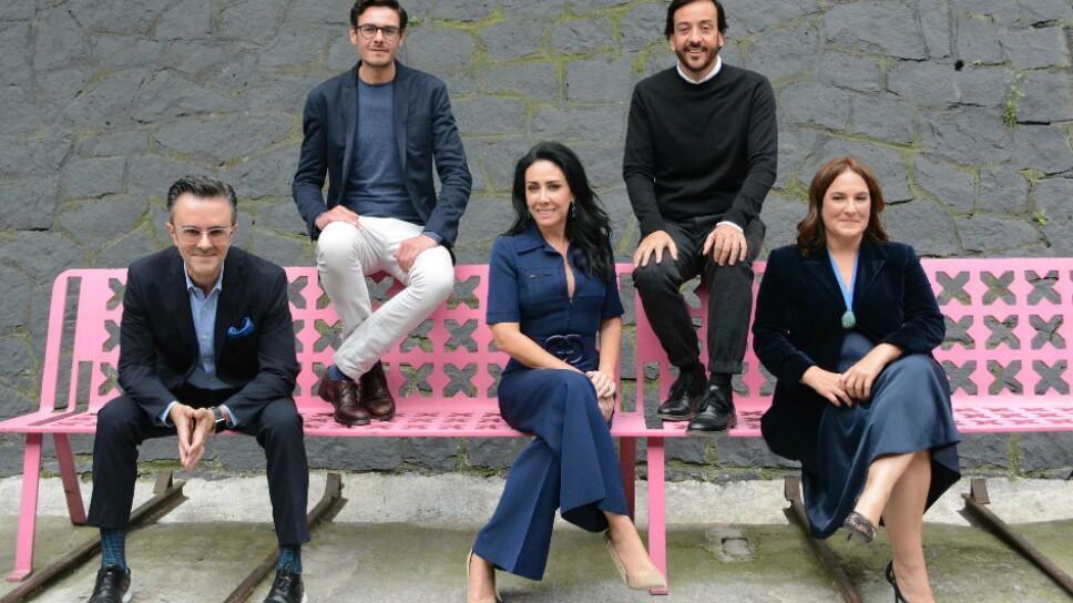 Marco Coello, Jaime Hernández, María Laura Medina de Salinas, Emilio Cabrero y Andrea Cesarman