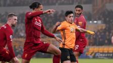 Raúl Jiménez gol al Liverpool