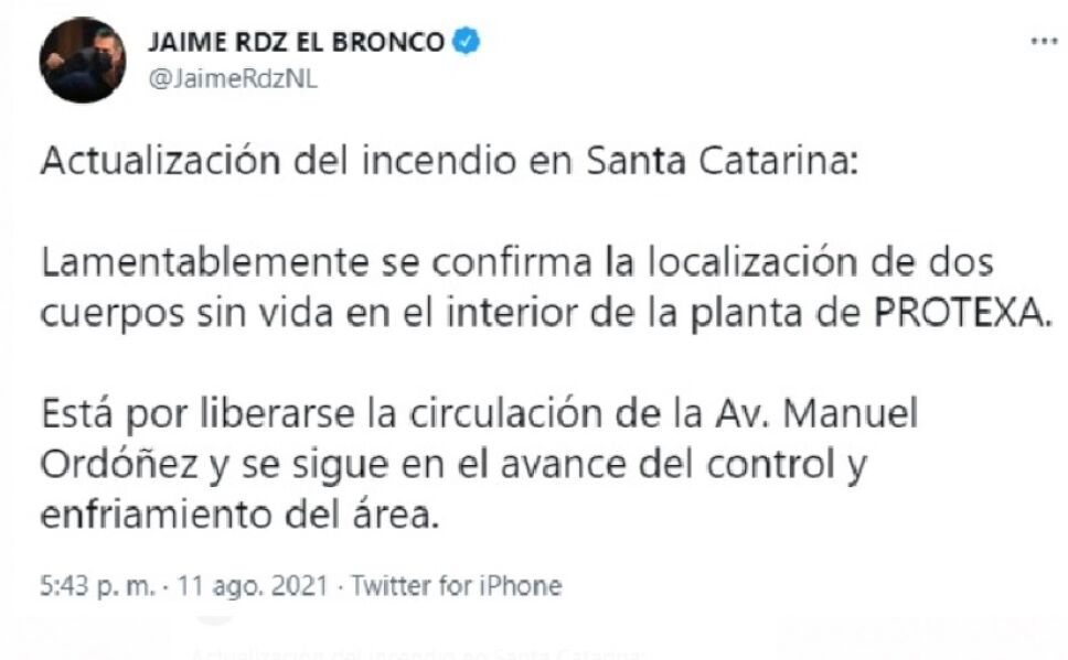 Gobernador sobre fallecidos en incendio de Santa Catarina.jpg