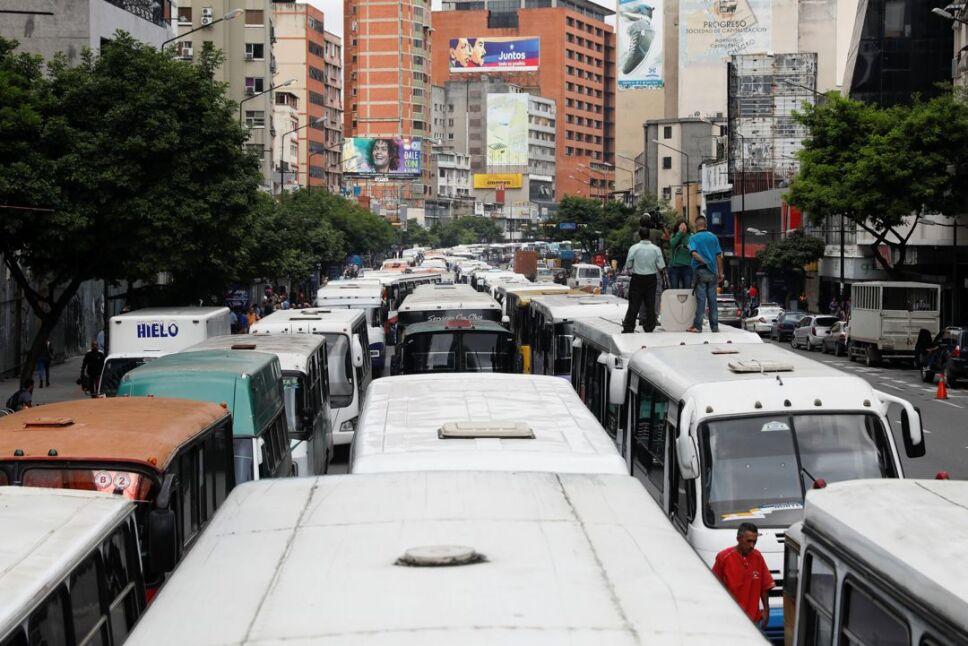 venezuela transporte manifestacion