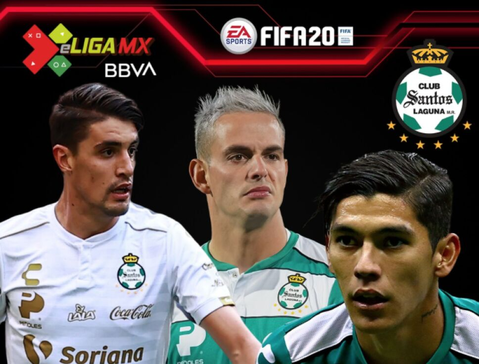 Los jugadores de Santos Laguna para la e Liga MX