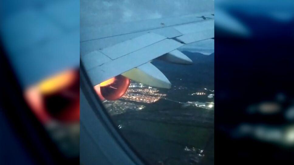 Avión en llamas