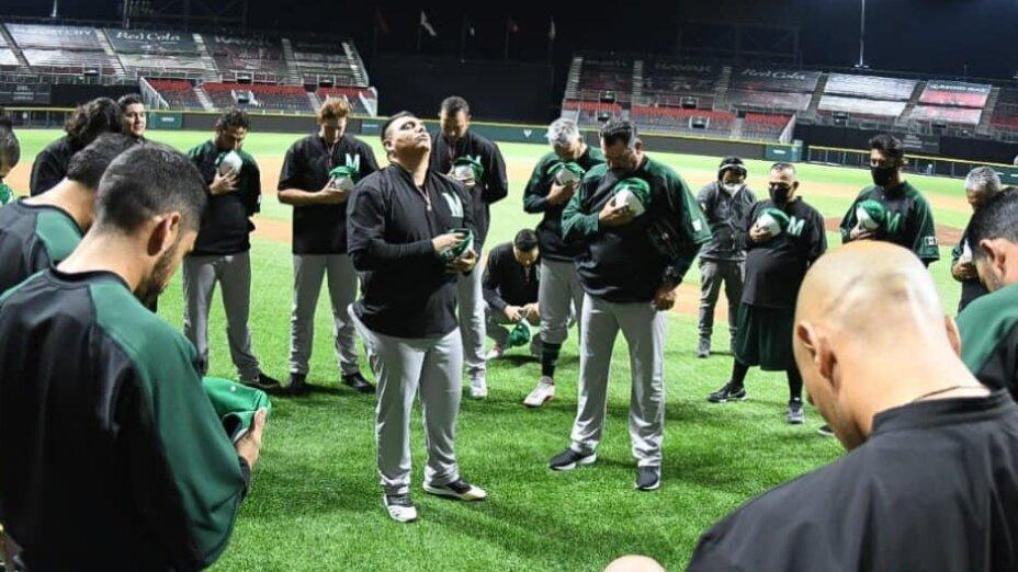 Selección de beisbol Azteca con Covid-19