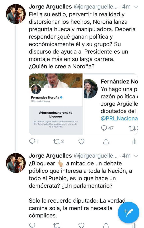 Jorge Argüelles en tuiter