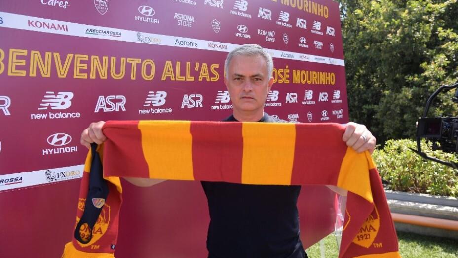 José Mourinho en la Roma