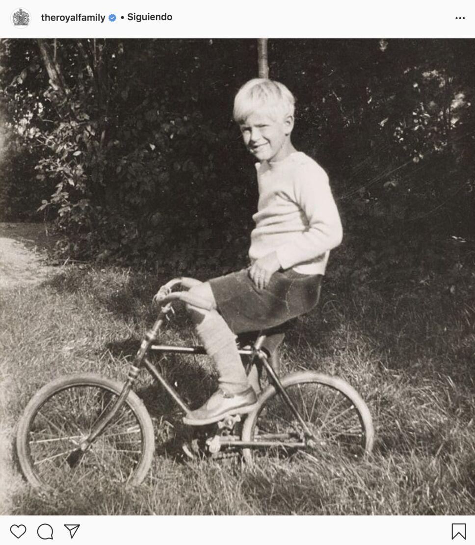 Felipe de Edimburgo de niño