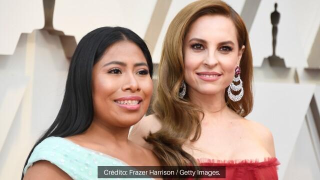 Yalitza Aparicio y Marina de Tavira llegaron juntas a la celebración.