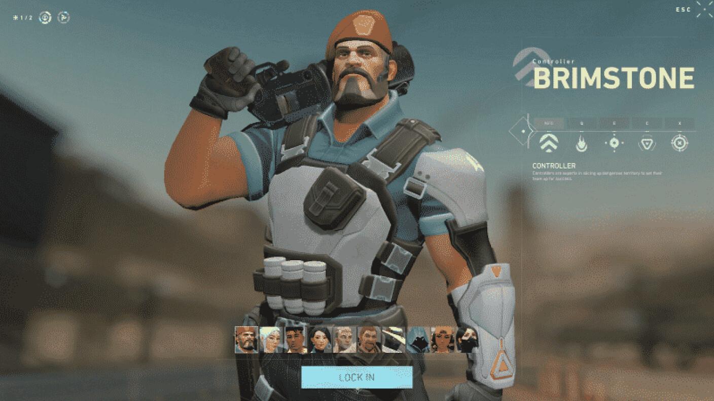 Agente Valorant 05: BRIMSTONE
