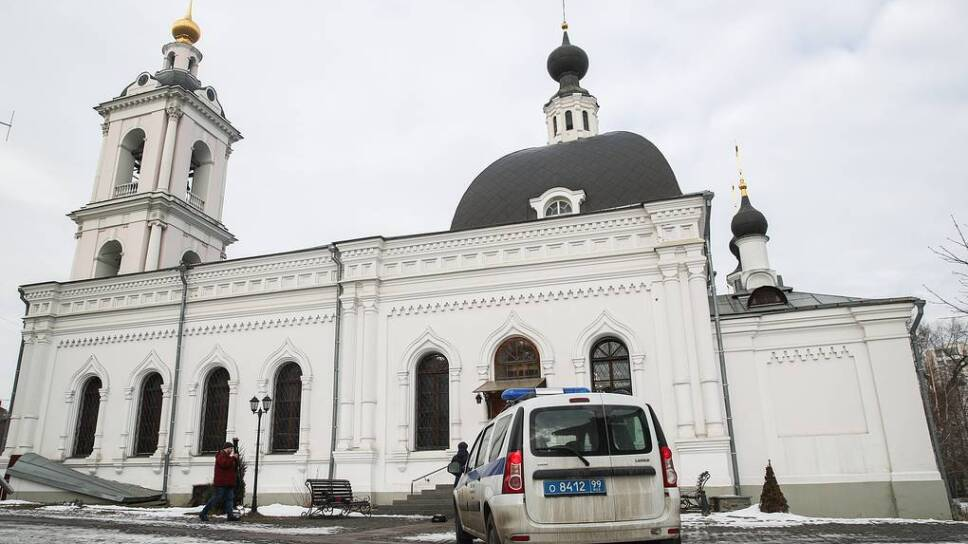 Man with knife injures people at Moscow church