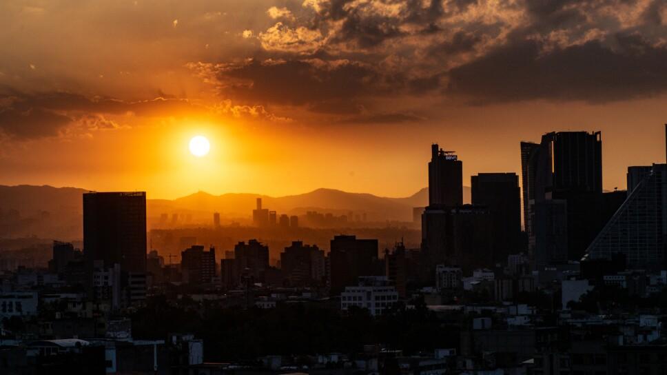 Atardecer en la Ciudad de México