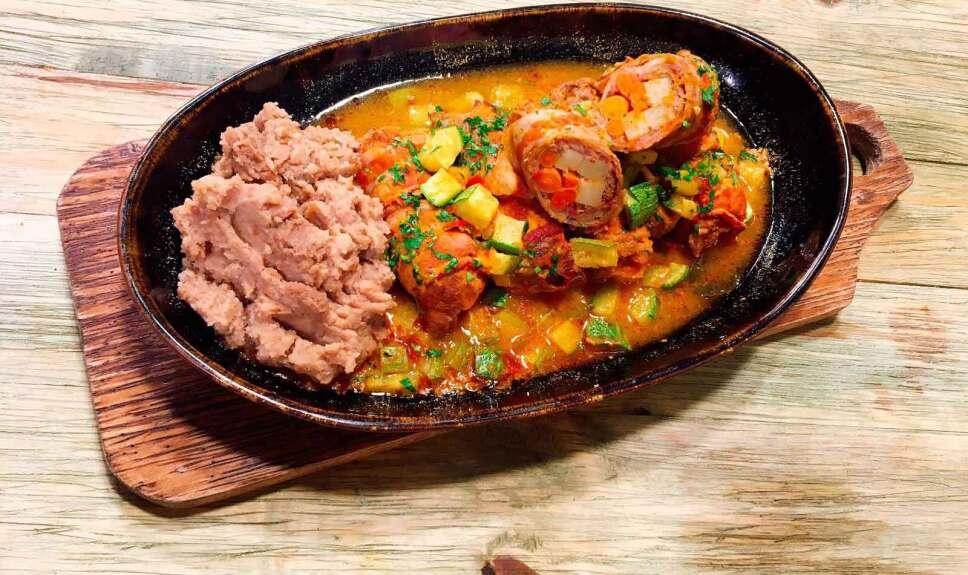 Receta Rollo de carne Cocineros Mexicanos