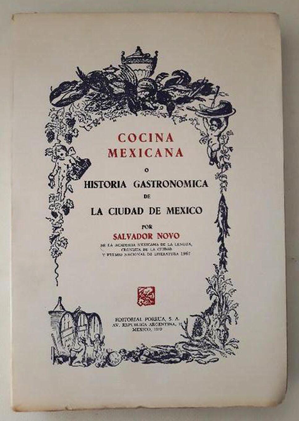 Libro cocina mexicana Salvador Novo