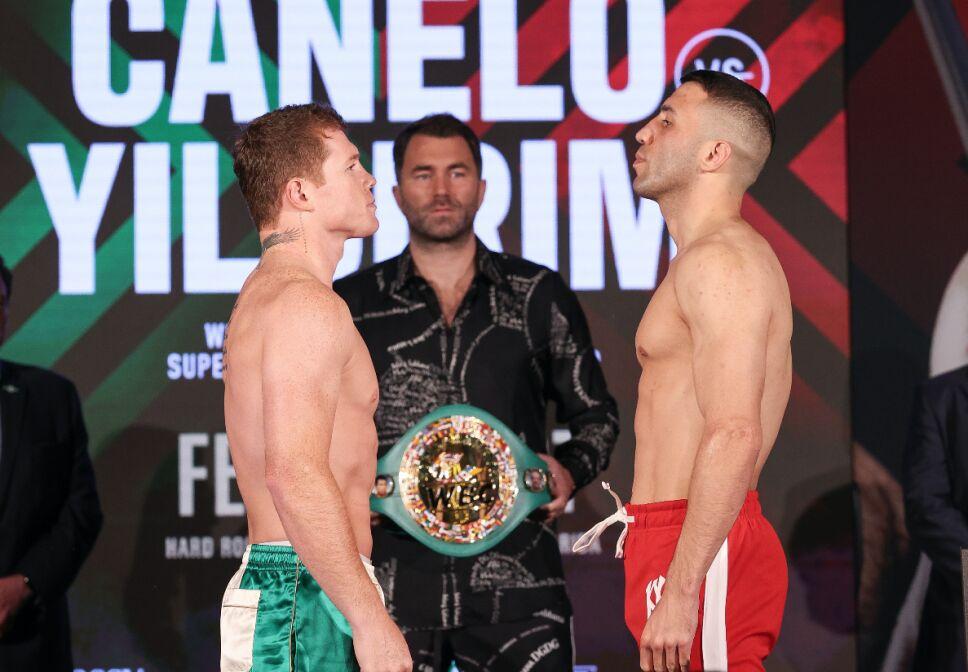 Canelo Álvarez vs Avni Yildirim pesaje de la pelea