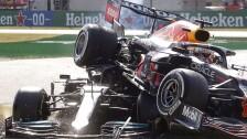 Choque entre Verstappen y Lewis Hamilton