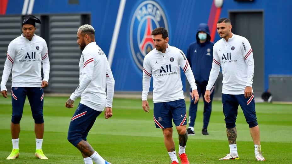 Messi, Neymar y Mbappé con el PSG