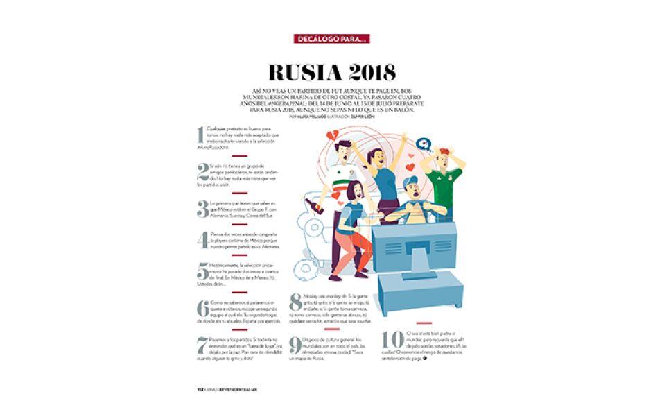 Del 14 de junio al 15 de julio prepárate para vivir las emociones del Mundial de Rusia 2018