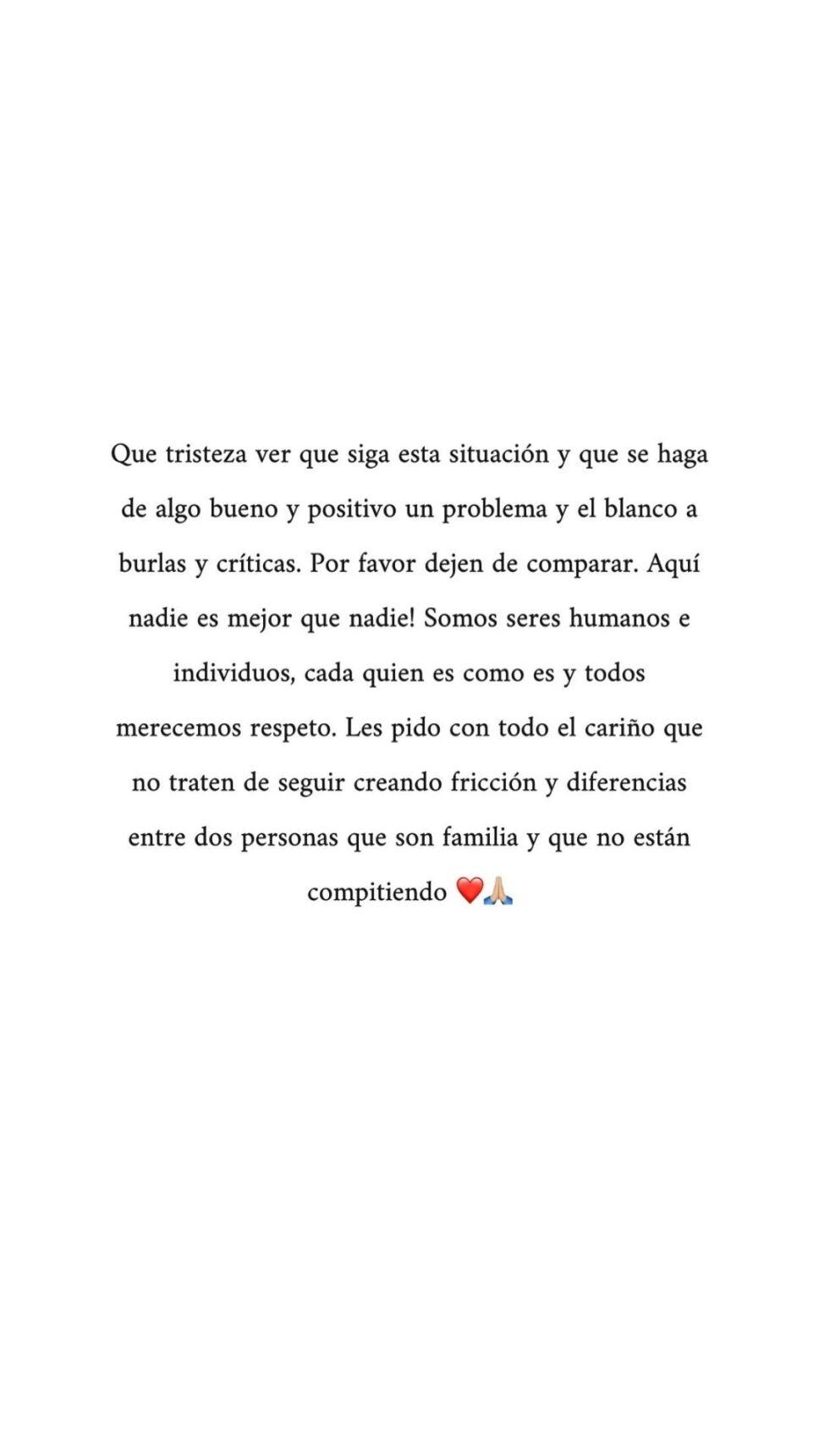 Mensaje de Michelle Salas