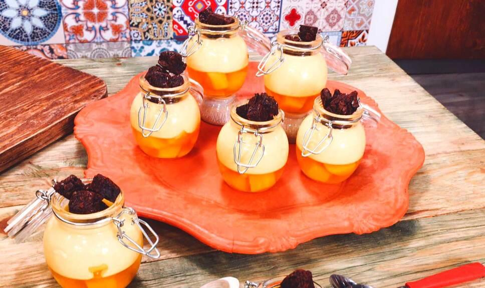 Receta Panacotta de mango y piña