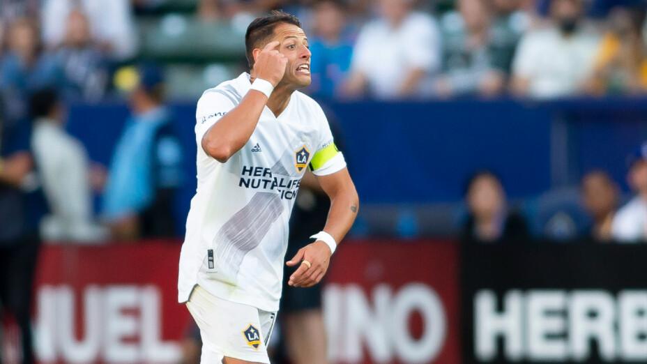 Javier Hernández con el Galaxy