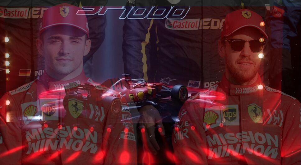 Charles Leclerc y Sebastian Vettel