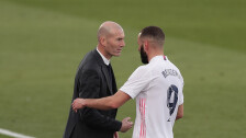 Karim Benzema y Zinedine Zidane