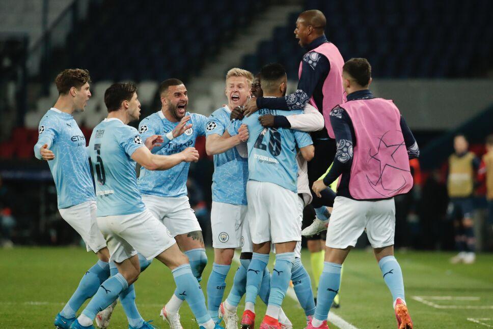 El Manchester City derrotó al PSG en la Champions League