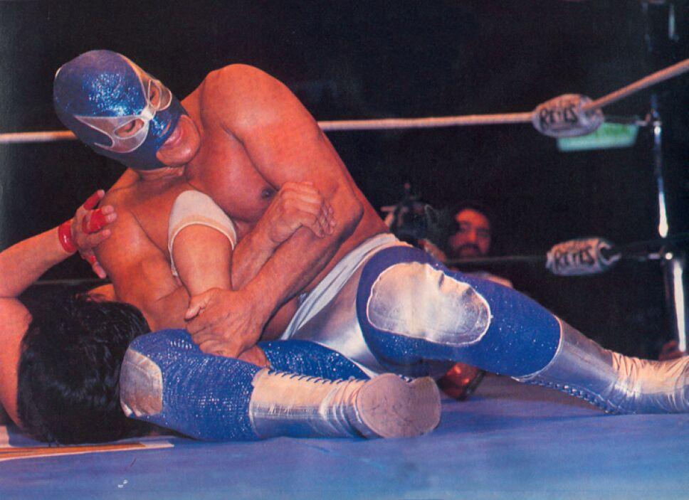 El Geniecillo Azul  Lizmark es una leyenda del pancracio