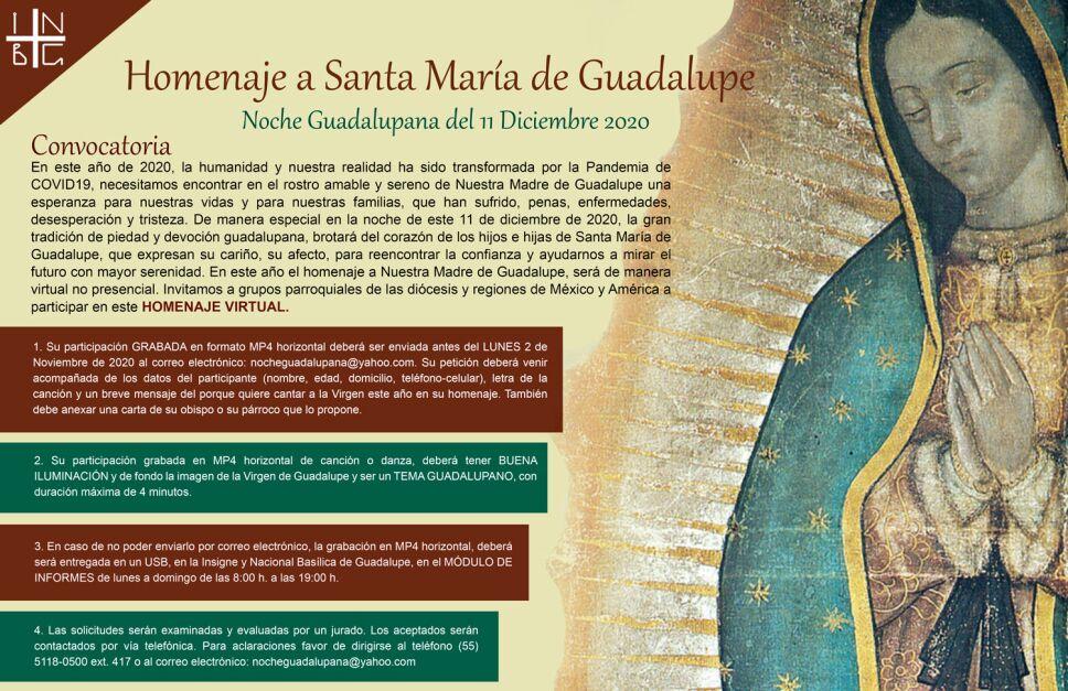Las autoridades de la Basílica dijeron que Las Mañanitas a la Virgen de Guadalupe serán virtuales