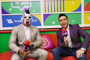 Psycho Clown y Rey Escorpión lucha azteca