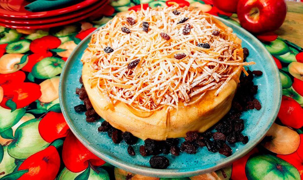 Receta Pastel de crepas y manzanas confitadas