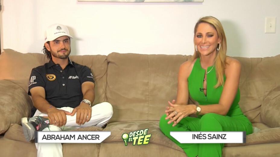 Abraham Ancer habló en exclusiva con Inés Sainz