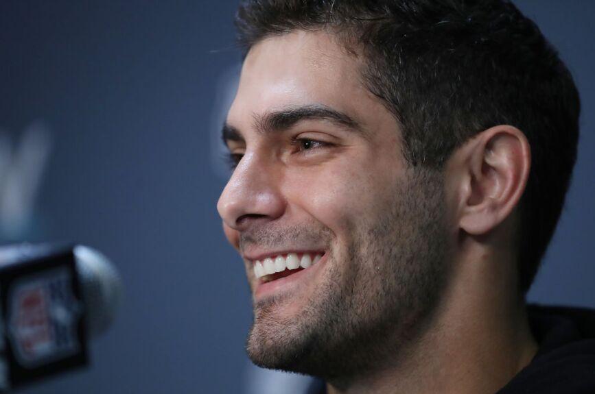 ¡Las estrellas de los San Francisco 49ers estuvieron en la conferencia de prensa!