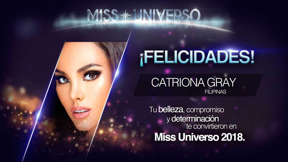 CATRIONA GRAY MISS UNIVERS