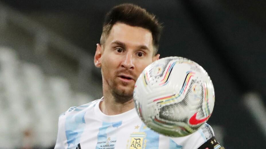 Lionel Messi con Argentina