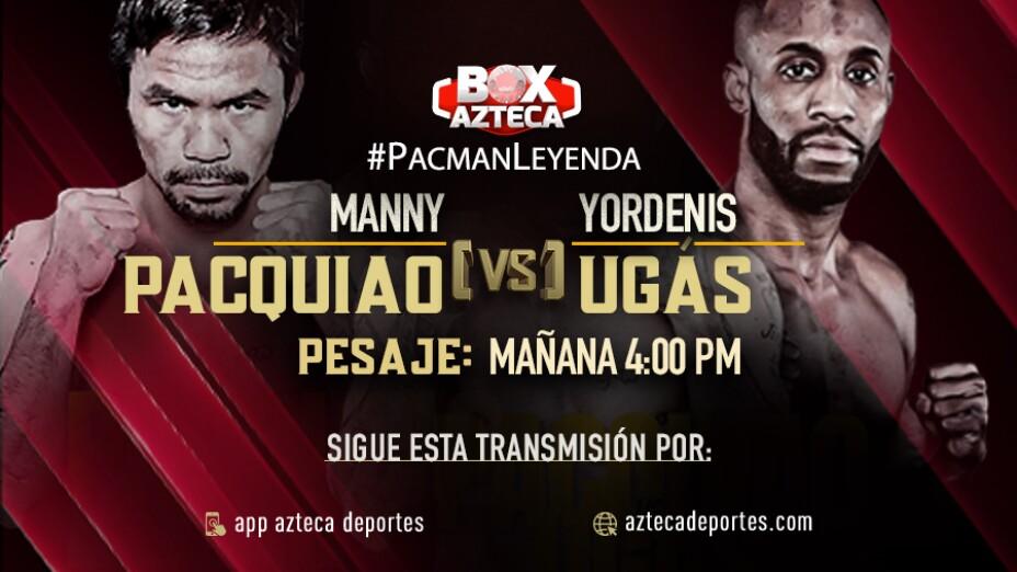 Manny Pacquiao vs Yordenis Ugás pesaje