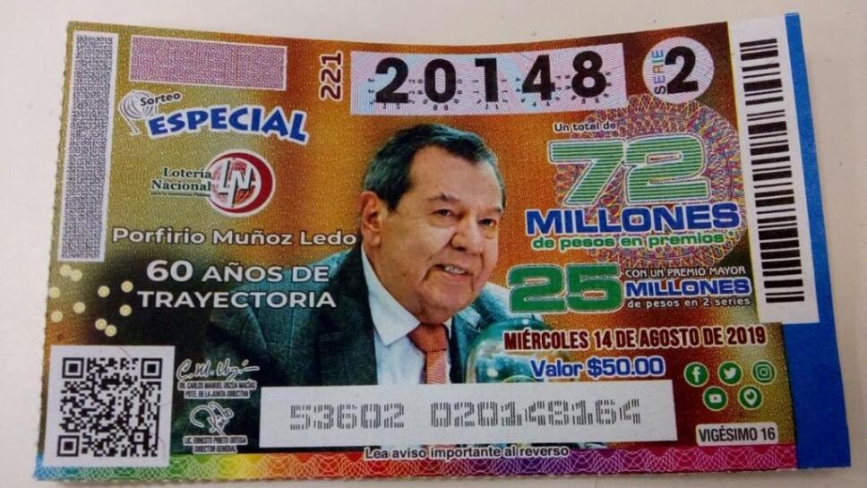Loteria Billete Muñoz Ledo