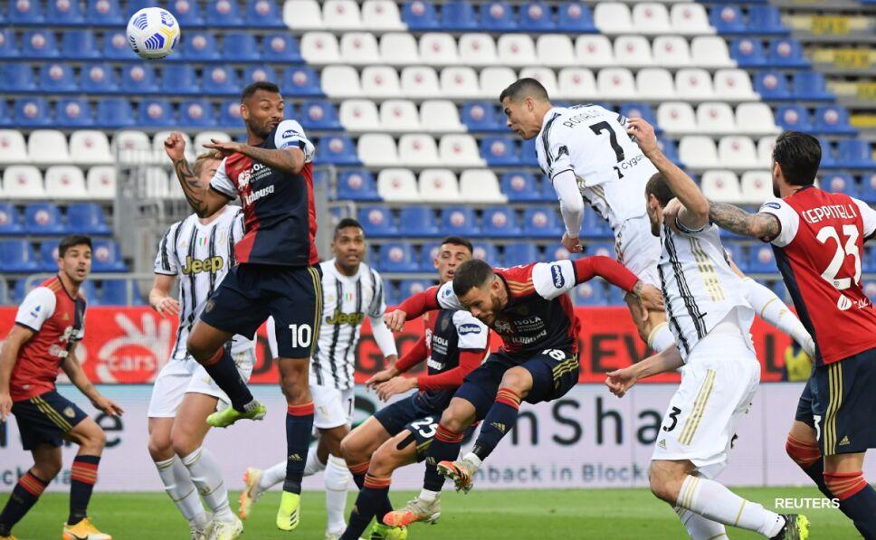 Cristiano Ronaldo contra el Cagliari