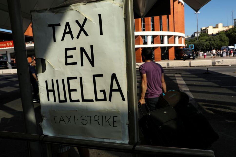 huelga españa taxis2