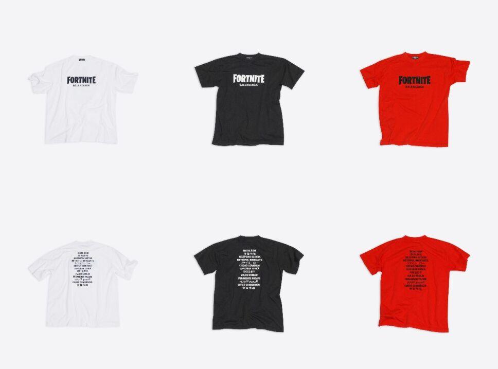 balenciaga fortnite 2021 camiseta